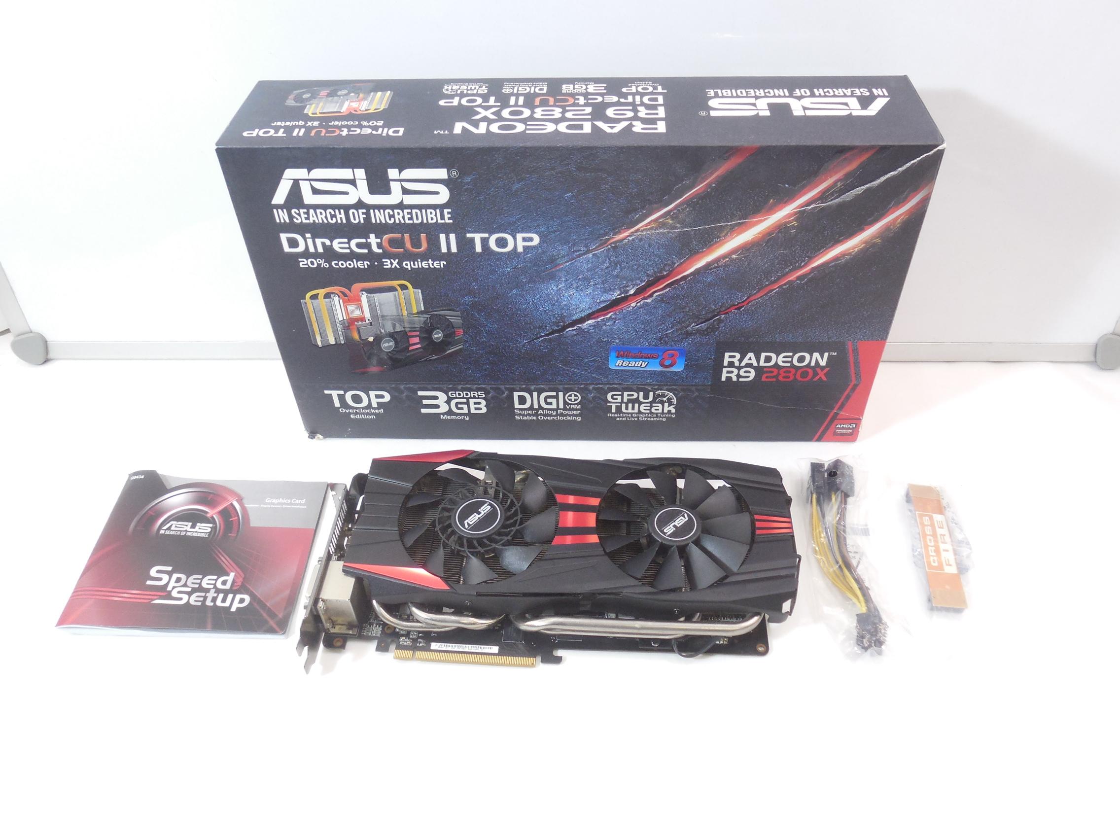 Видеокарта ASUS Radeon R9 280X 3Gb