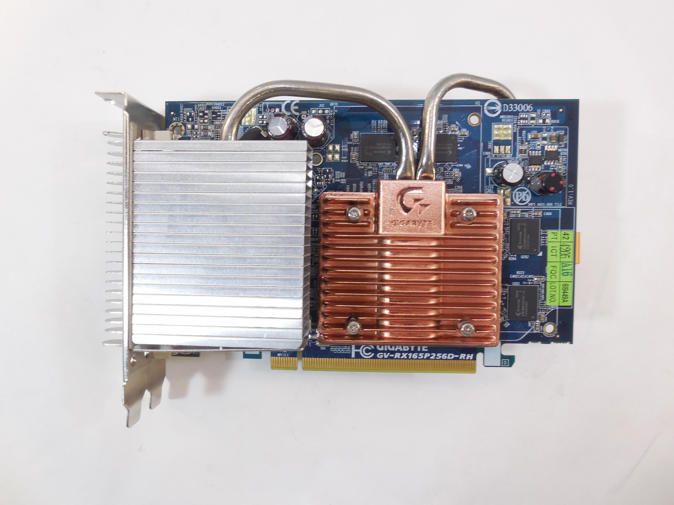 Видеокарта GIGABYTE Radeon X1650 Pro 256Mb Silent
