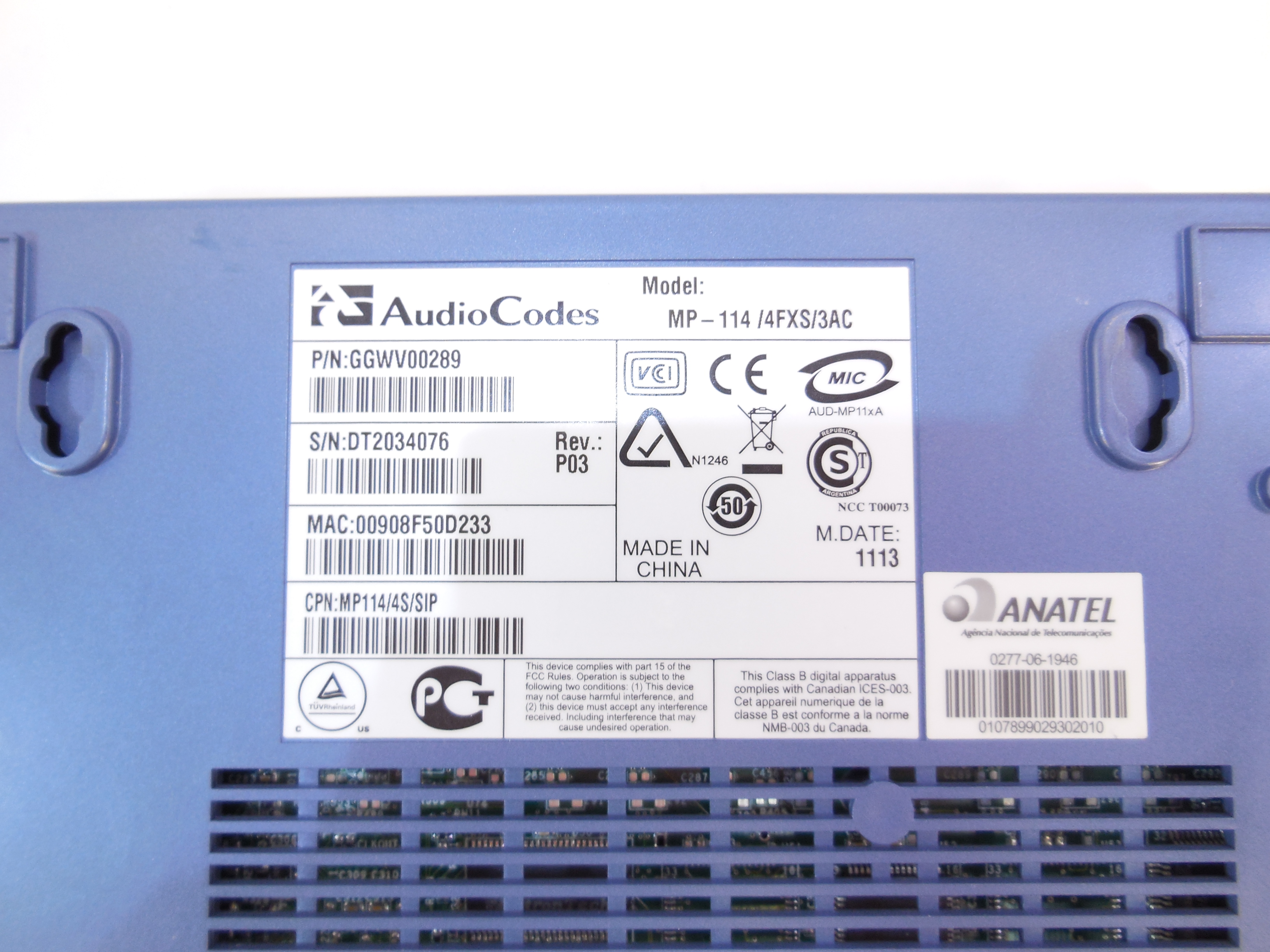VoIP-шлюз AudioCodes MP-114 - Pic n 280573