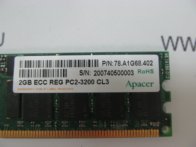 Модуль памяти DDR2 2Gb Apacer (p/n 78.A1G68.402) /PC2-3200 /CL 3 /ECC Registered