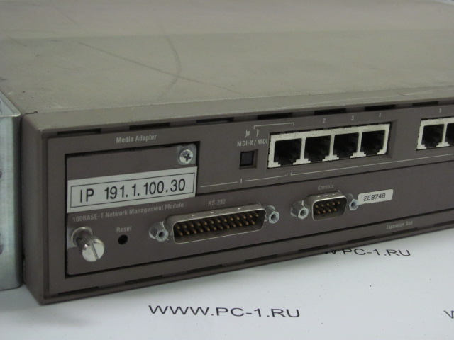 Коммутатор (switch) Bay Networks Baystack 100BASE-T Hub /12-port 10/100Mbps /Cascade /Expansion Slot (Network Management Module) /в стойку 19""