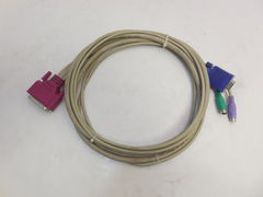 Кабель VGA to DB25 KVM Mixed Cable Assembly